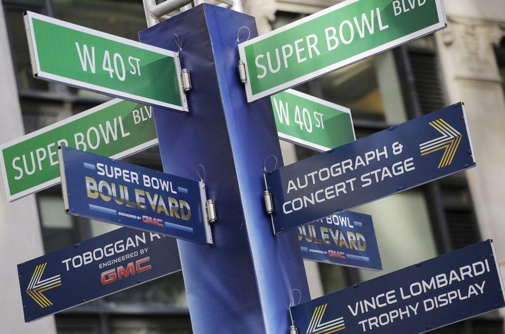 Corazón de NYC se transforma en Boulevard del Super Bowl