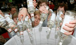 Vodka causa alta mortalidad de hombres en Rusia
