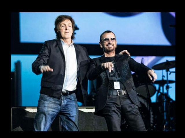 Paul y Ringo juntos en el 50 aniversario The Beatles en NYC