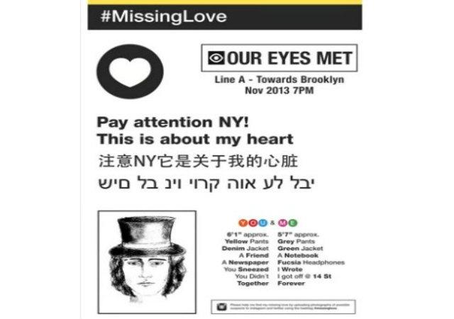 Chilena empapela trenes de NYC en busca del amor perdido