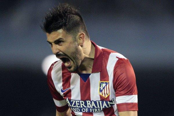 """Doblete de Villa y """"Atleti"""" afianza el subliderato (Video)"""