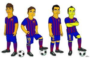 Así será Lionel Messi en los Simpson