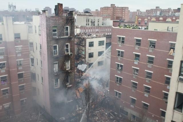 Centenarios y llenos de problemas edificios destruidos en East Harlem
