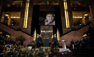 Peña Nieto y Santos juntos en homenaje a García Márquez