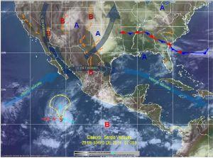 Huracán Amanda alcanza la categoría 4 en México