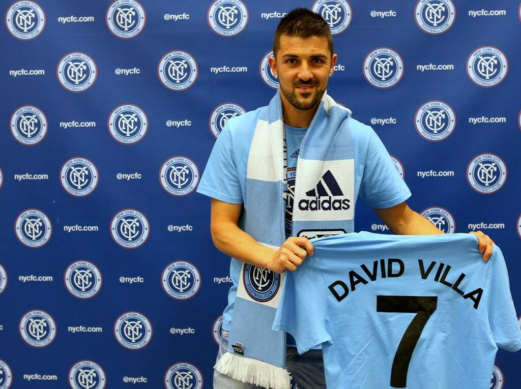 David Villa se enfunda la camiseta del New York City FC