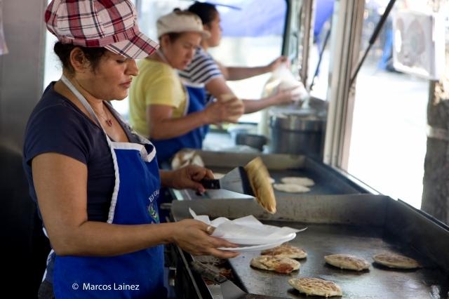 Pupusas en la meca de la comida latina en NYC