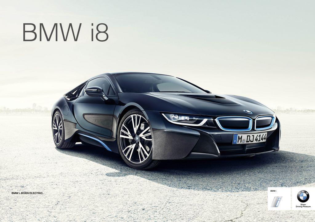 BMW lanza el i8 para competir contra el Tesla S