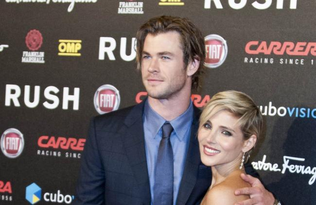 Chris Hemsworth le salió celoso a Elsa Pataky