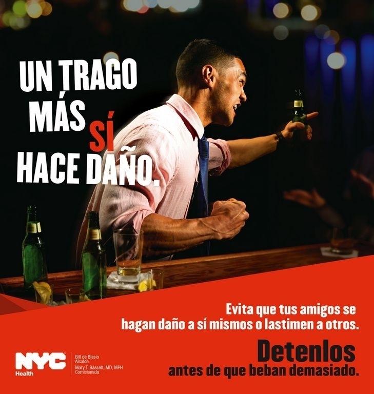 Los afiches de la campaña estarán en bares y estaciones de metro de la ciudad.