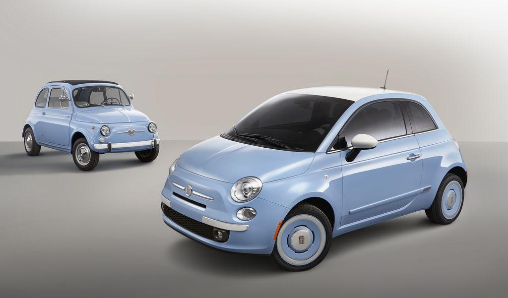 El Fiat 500C conserva algunos elementos del original Fiat 500.