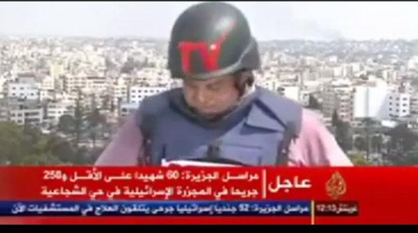 Un periodista rompe a llorar al informar sobre los ataques en Gaza (VIDEO)