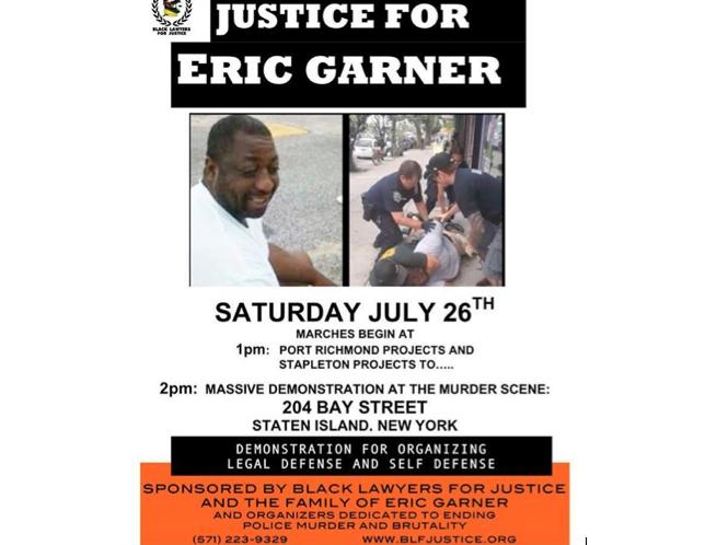 Anuncian marcha por muerte de Eric Garner