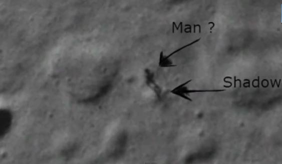 Explican silueta de supuesto humanoide en la Luna captada por Google Moon (video)