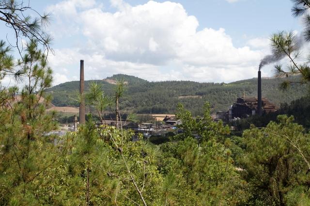 Planta de procesamiento de ferroníquel de Falcondo en Bonao.