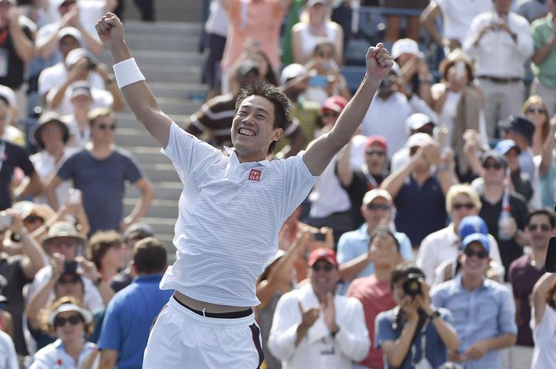 Nishikori sorprende a Djokovic y se cuela en la final del US Open