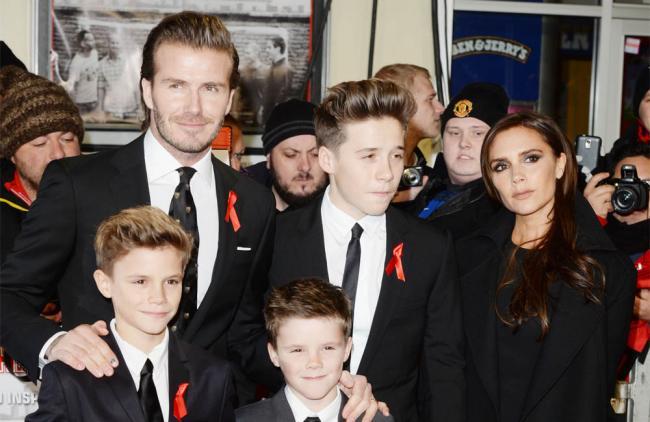 David Beckham quiere evitarles presión a sus hijos