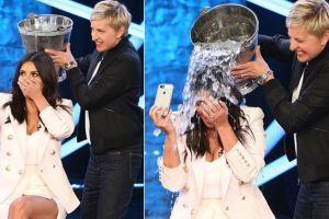 "Kim Kardashian por fin hace el ""Ice Bucket Challenge"""