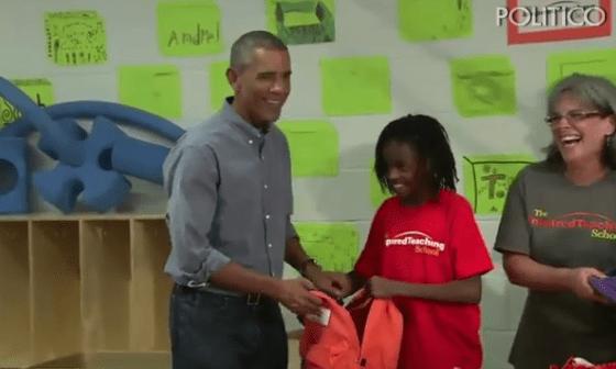 A que no imaginas qué le dijo esta niña a Obama