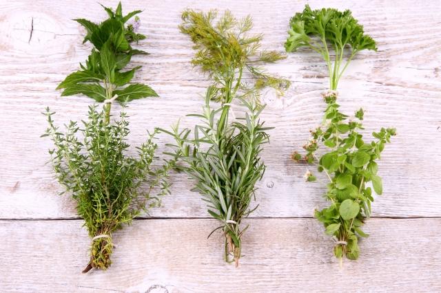 El uso de hierbas a lo italiano