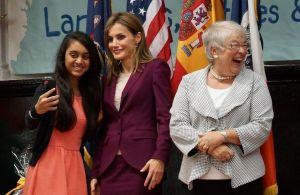 Una selfie con la reina de España