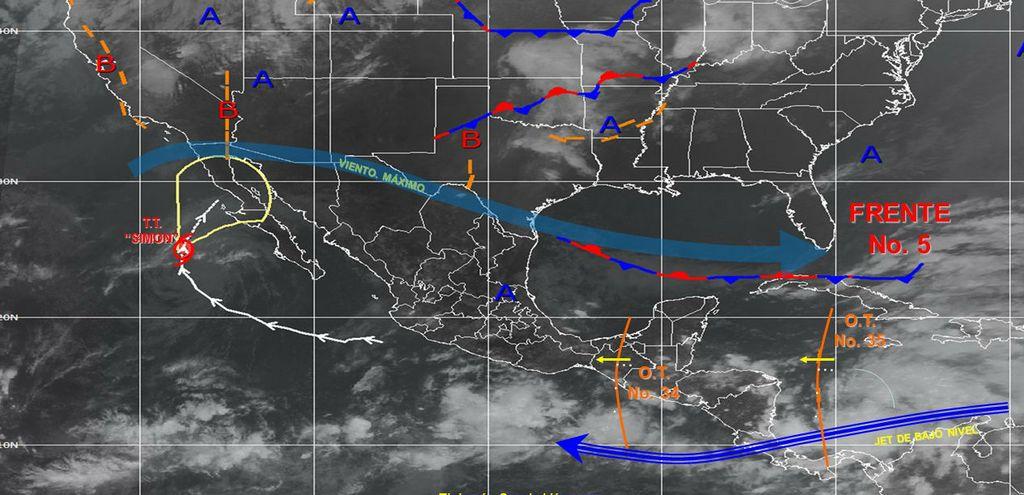 El fenómeno meteorológico provoca lluvias intensas en el noroccidente de México.