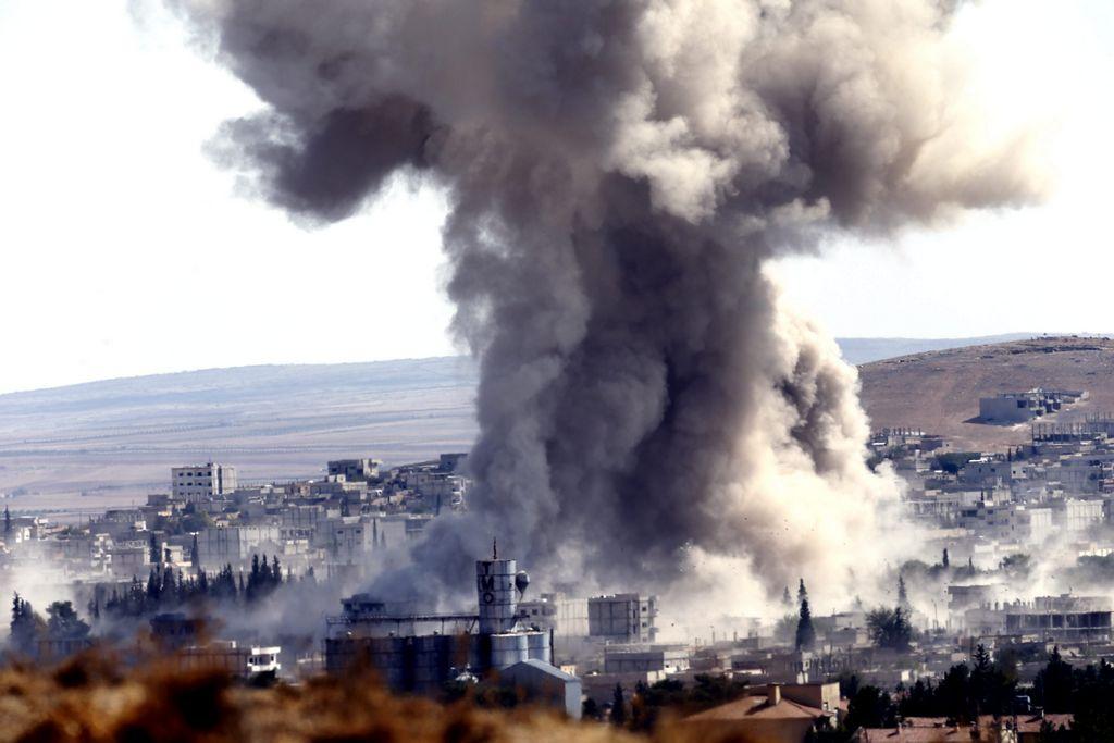 Lanza coalición nueve ataques contra ISIS en Kobane