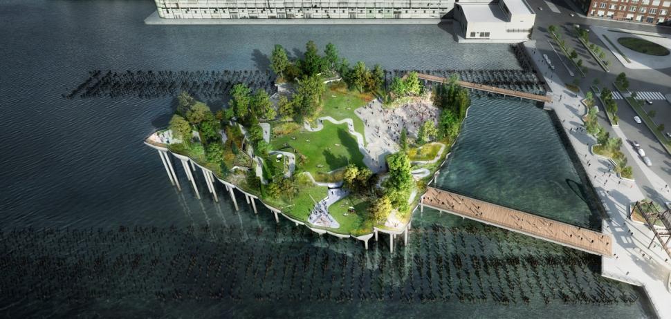 Manhattan tendría un parque flotante sobre el Río Hudson (video)