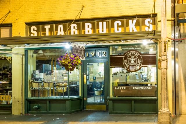 Primer café de Starbucks en Seattle.