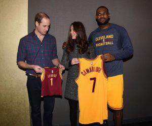 LeBron James rompió el protocolo con Kate Middleton