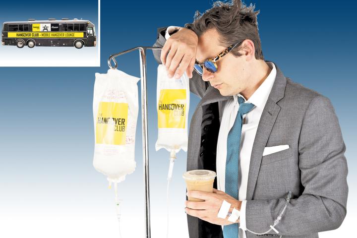 Un autobús para curar la resaca de Fin de Año se instala en Nueva York