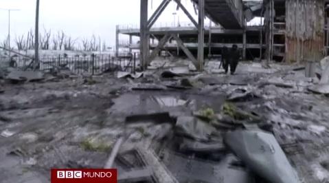 Imágenes de la destrucción.