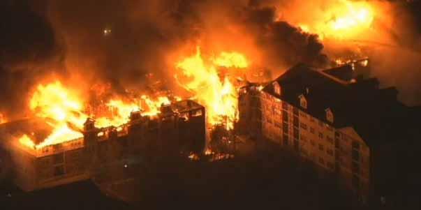 Trabajo de plomería causó masivo incendio de Edgewater