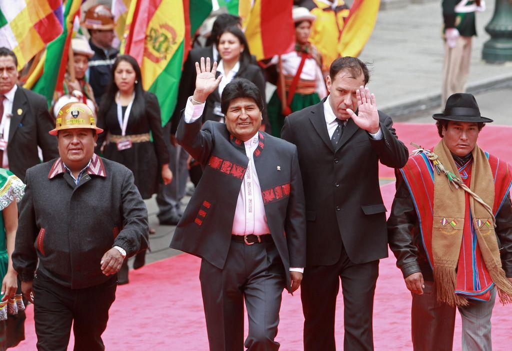 Evo Morales jura su tercer mandato consecutivo