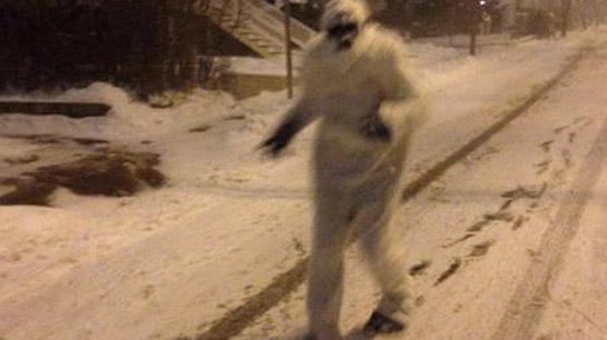 """Tormenta también trae al """"Abominable hombre de la nieve"""" (fotos)"""