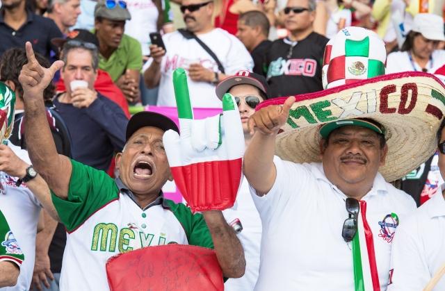La leal afición mexicana llegó a hacer ruido para apoyar a los suyos en el arranque de la Serie del Caribe 2015.