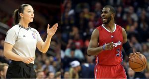 Árbitros de la NBA enfrentan a Chris Paul por criticar a una colega