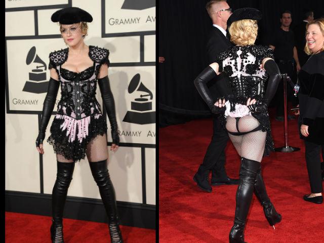 Madonna enseña el trasero en los Premios Grammy