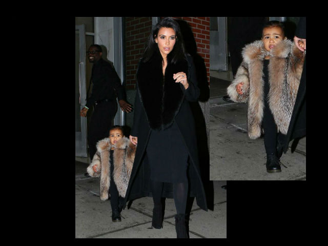 Kim Kardashian desata polémica por costoso abrigo de North West
