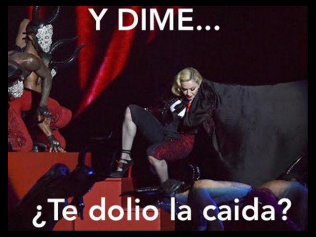 Mira los memes de la caída de Madonna en los Brit Awards