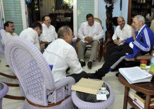 """Fidel Castro se reunió con """"Los Cinco"""""""