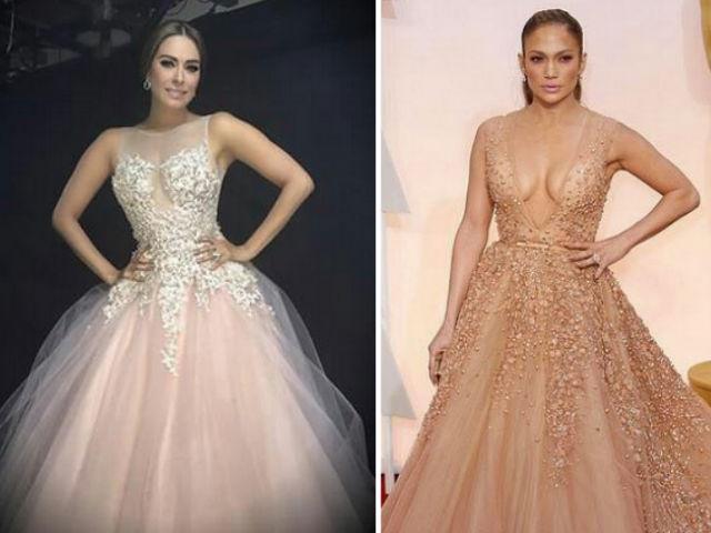 Critican a Galilea Montijo por vestido parecido al de J.Lo