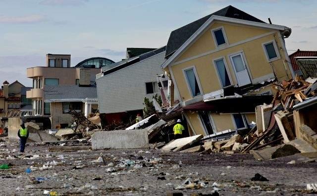 Vista de una casa seriamente dañada en el 2012 en el vecindario de Belle Harbor, en Queens.