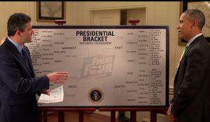 Obama juega a la segura en la 'locura de marzo' (video)