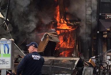 Video muestra momento de colapso de edificio en East Village