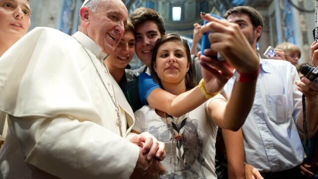 Una 'selfie' con el Papa