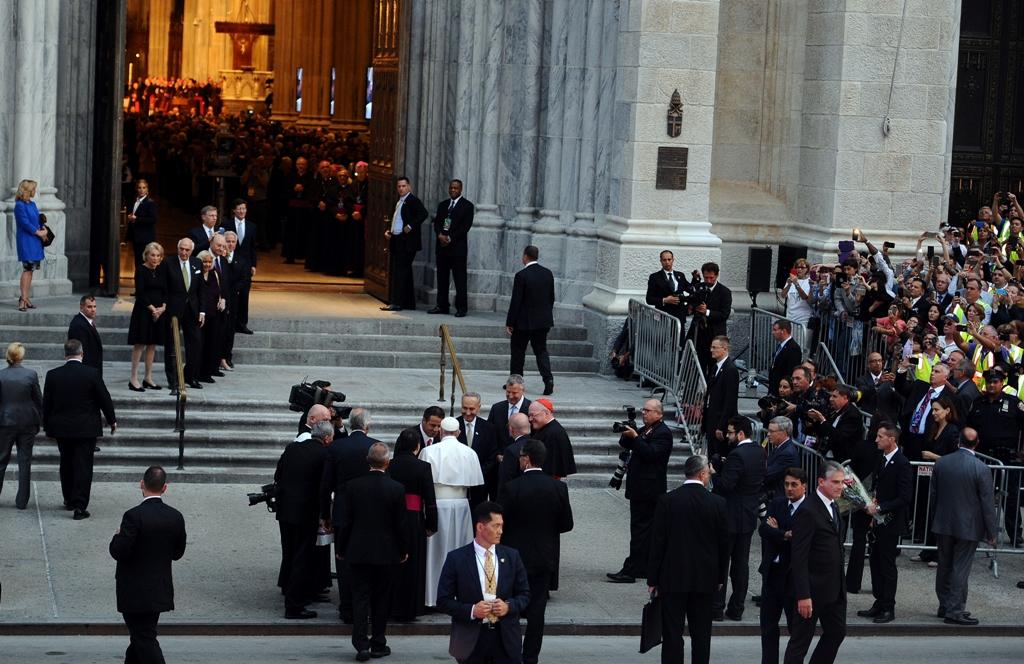 Con temas polémicos el Papa inicia visita a NYC (FOTOS Y VIDEOS)