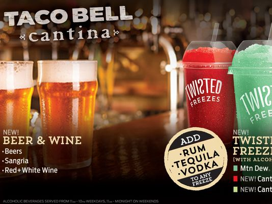 """Taco Bell venderá cerveza, vino y alcohol en sus nuevas """"cantinas"""""""