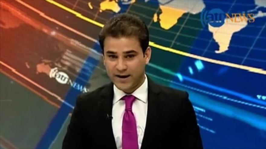 Así se vio en vivo en la TV afgana el terremoto