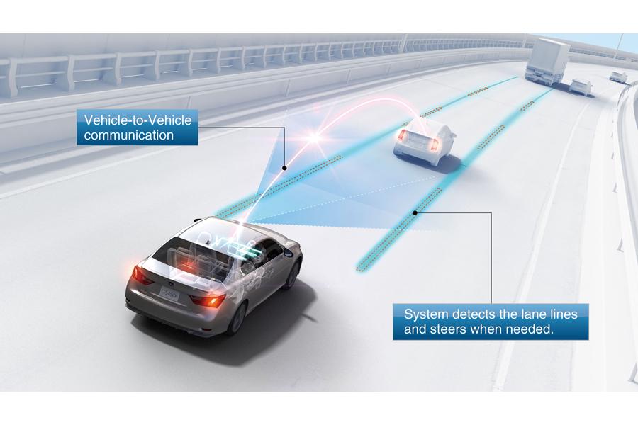 El ITS de Toyota puede enviar y recibir información entre los vehículos y la infraestructura vial.